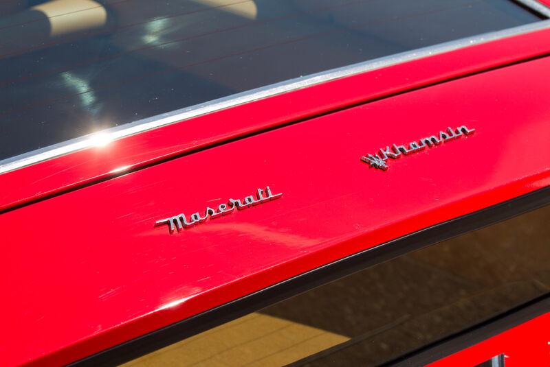 Maserati Khamsin, Schriftzug