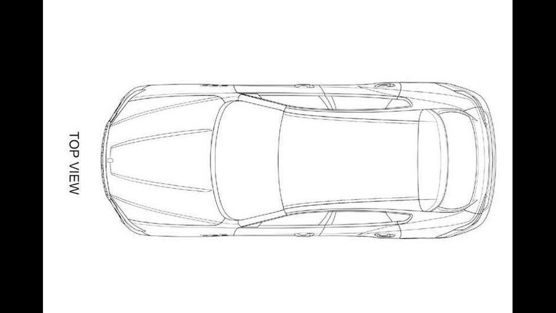 Maserati Levante Patentamtzeichnungen