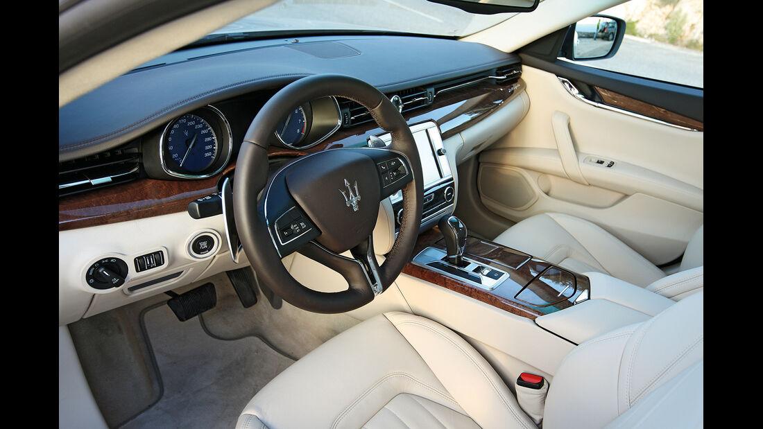 Maserati Quattroporte, Cockpit, Lenkrad