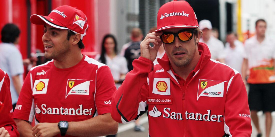 Massa & Alonso - Ferrari - Formel 1 - Budapest - GP Ungarn - 26. Juli 2012