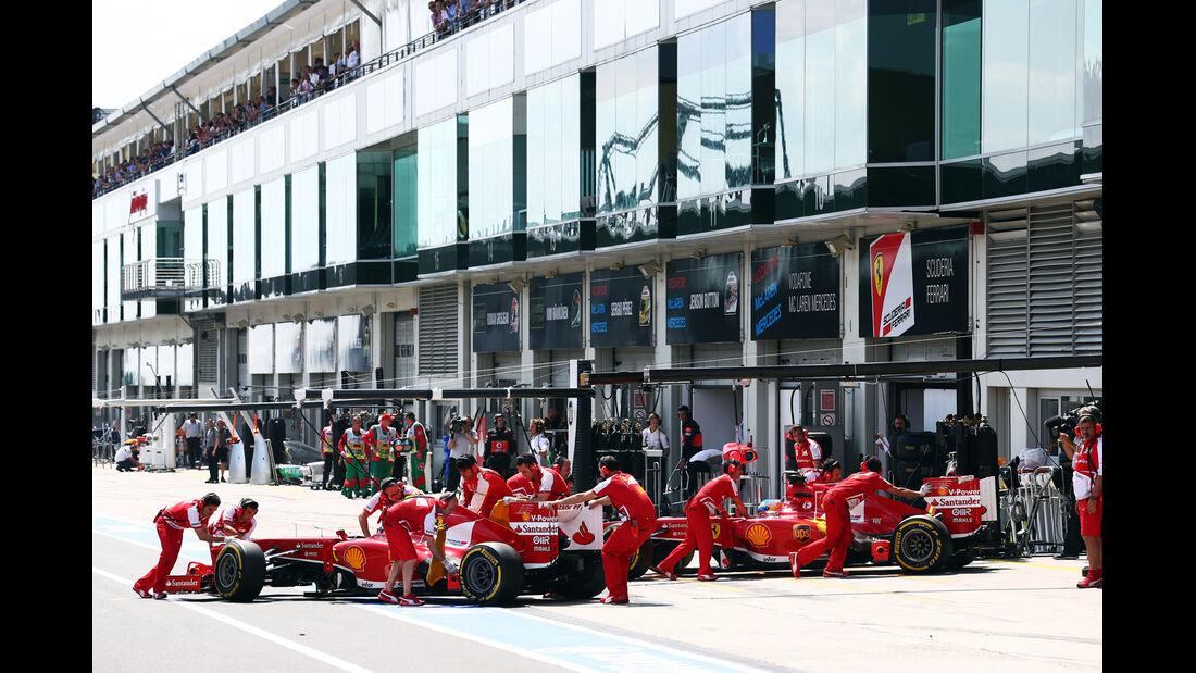 Massa & Alonso - Ferrari - Formel 1 - GP Deutschland - 6. Juli 2013