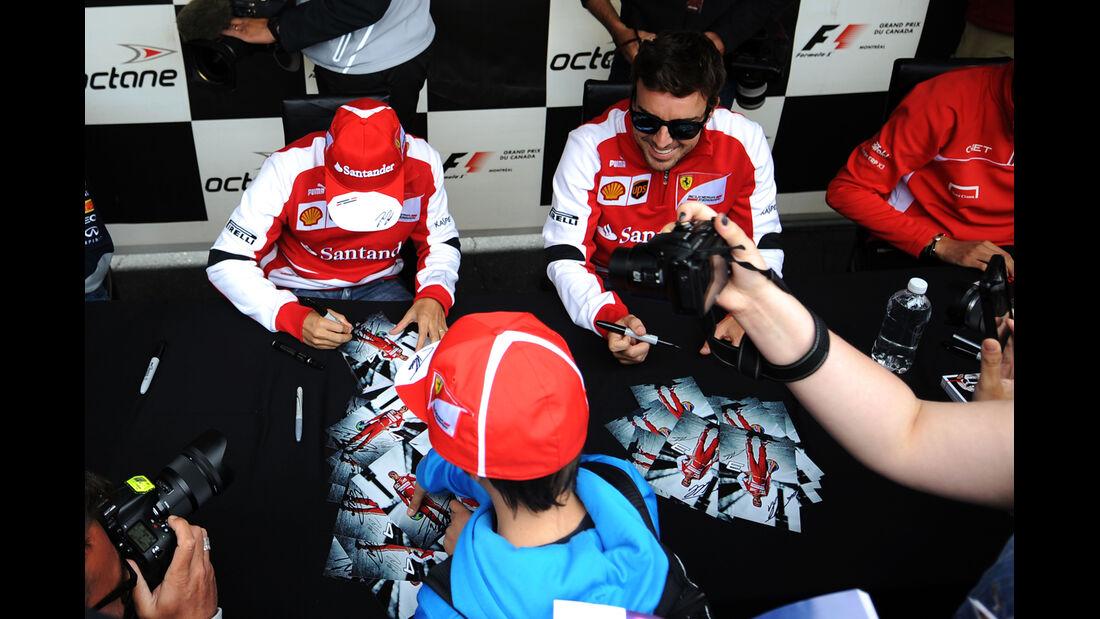 Massa & Alonso - Ferrari - Formel 1 - GP Kanada - 6. Juni 2013