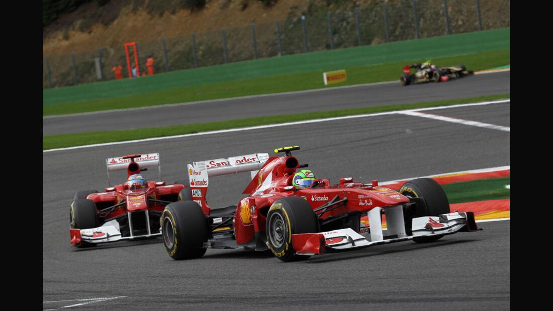 Massa & Alonso Rennen GP Belgien 2011