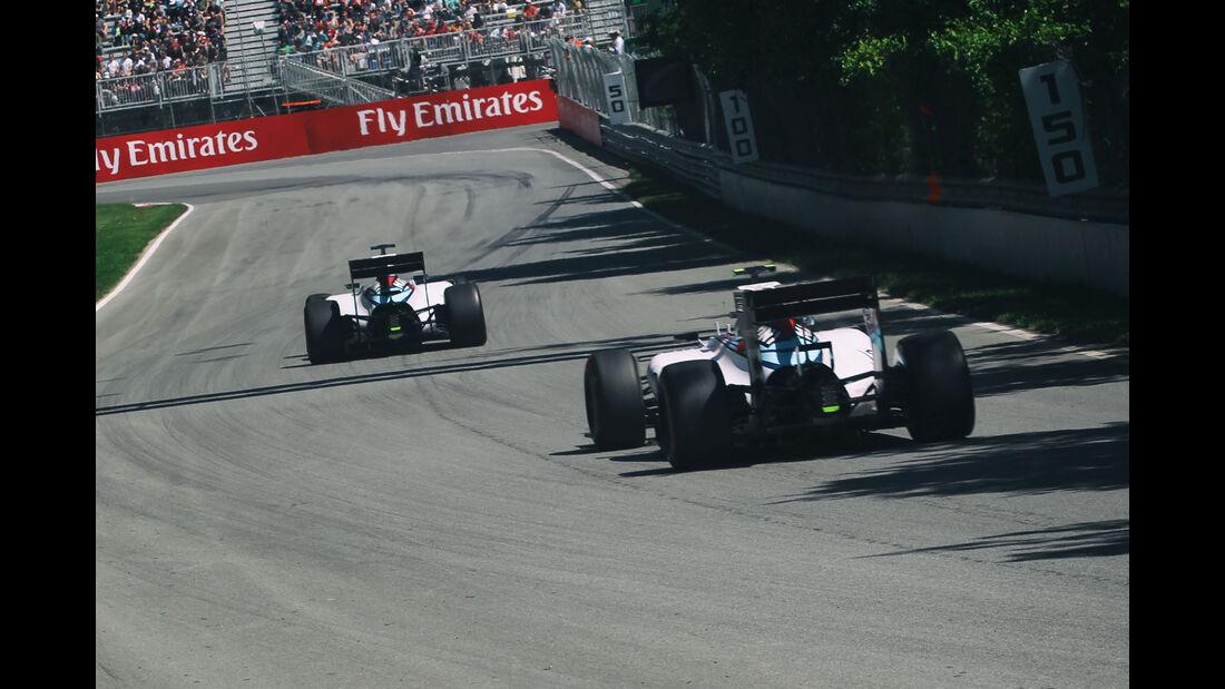 Massa & Bottas - Williams - Formel 1 - GP Kanada - Montreal - 6. Juni 2015