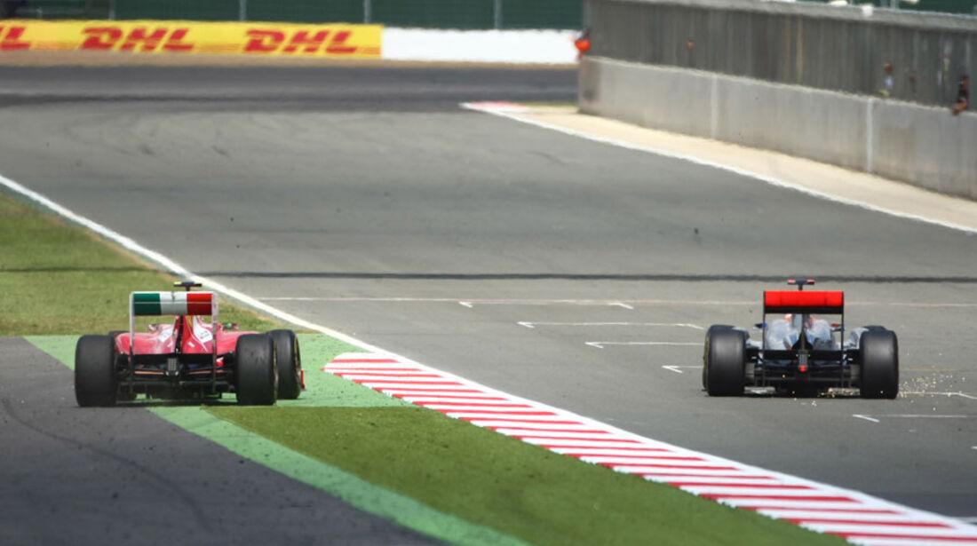 Massa Hamilton GP England 2011 Rennen