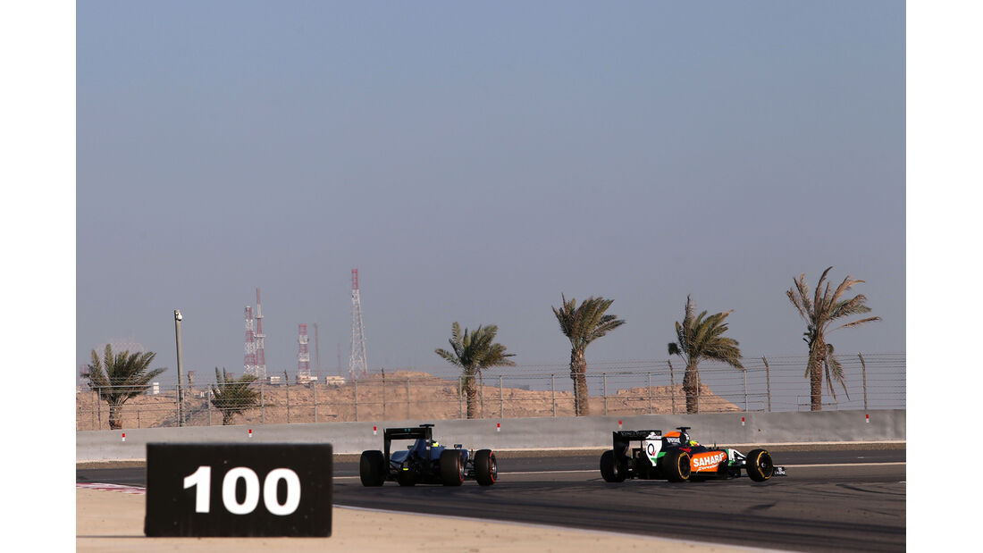 Massa & Perez - Bahrain - Formel 1 Test - 2014
