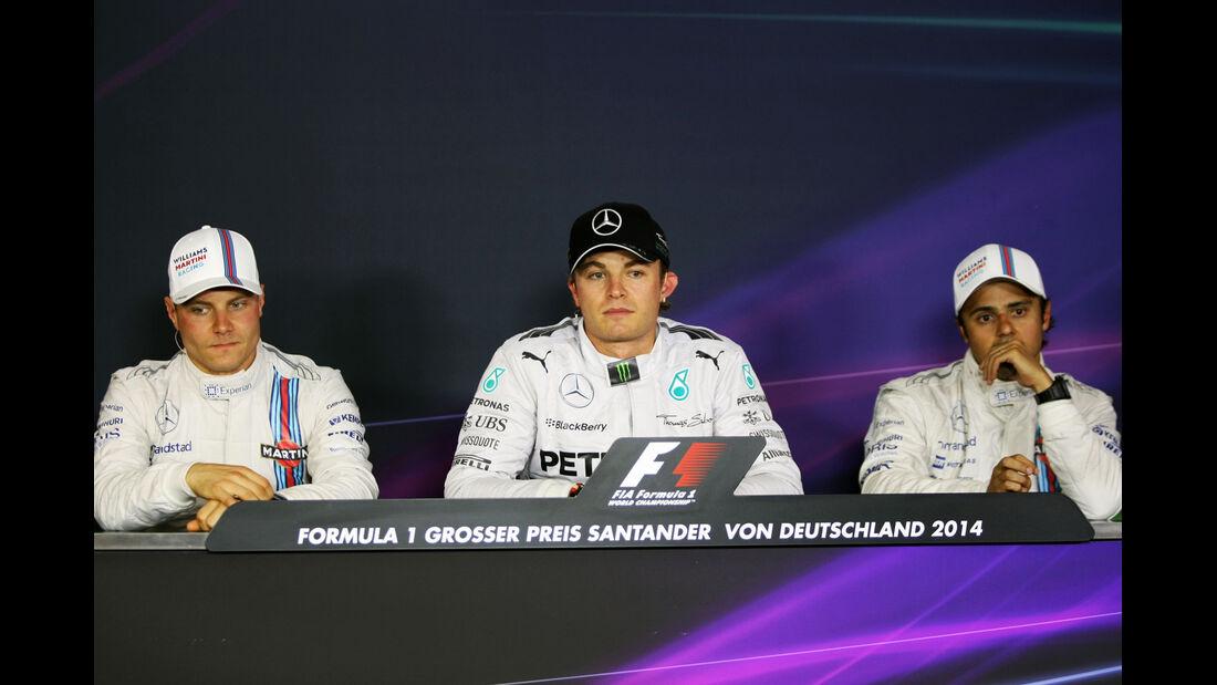 Massa, Rosberg & Bottas - Formel 1 - GP Deutschland - Hockenheim - 19. Juli 2014