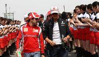 Massa Schumacher GP China 2011 Formel 1