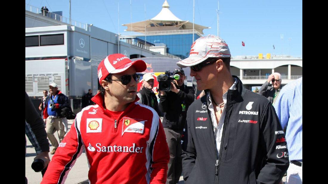Massa Schumacher GP Türkei 2011