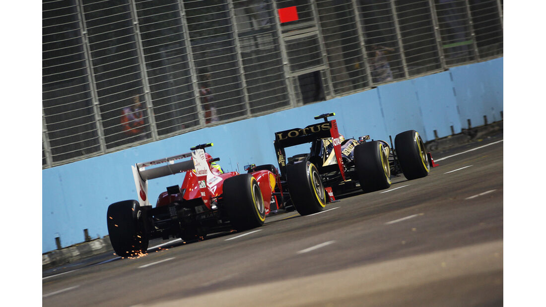Massa vs. Grosjean - Formel 1 - GP Singapur - 21. September 2012