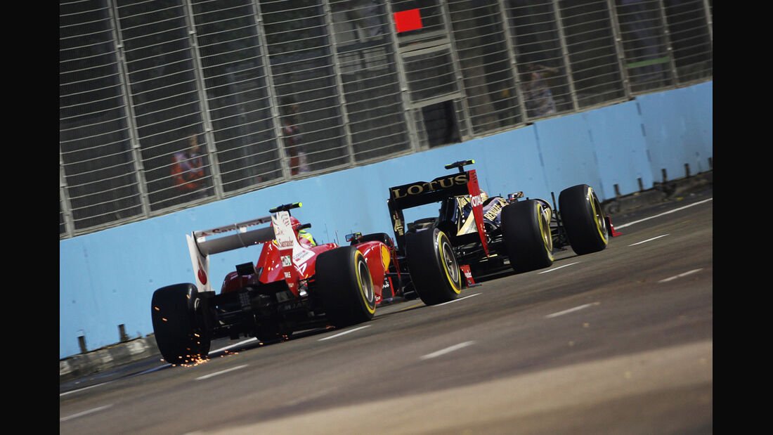 Massa vs. Grosjean - Formel 1 - GP Singapur - 21. September 2012