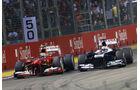 Massa vs. Maldonado - GP Singapur 2013