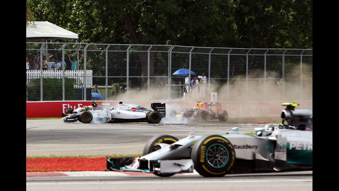 Massa vs. Perez - GP Kanada - Crashs 2014
