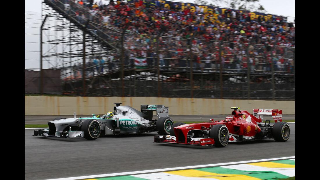 Massa vs. Rosberg - GP Brasilien 2013