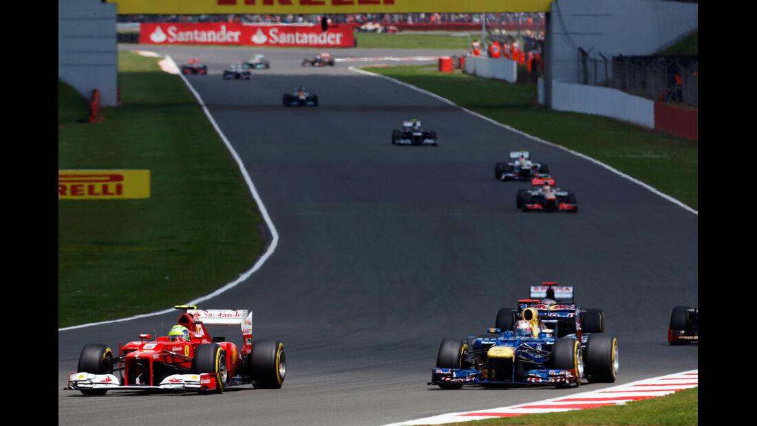 Massa vs. Vettel GP England Silverstone 2012