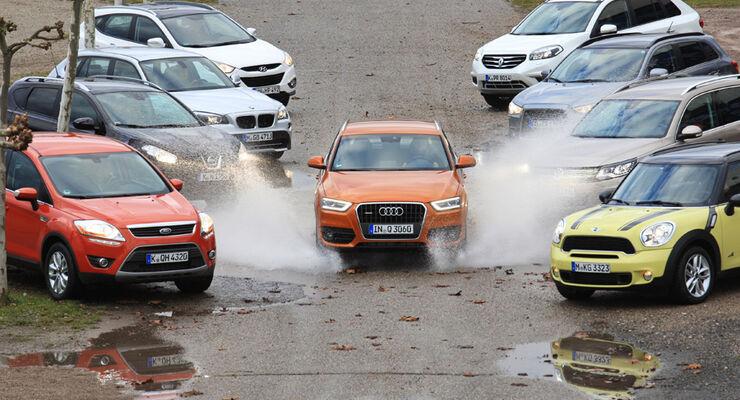 Mastertest, VW Tiguan, Audi Q3, BMW X1