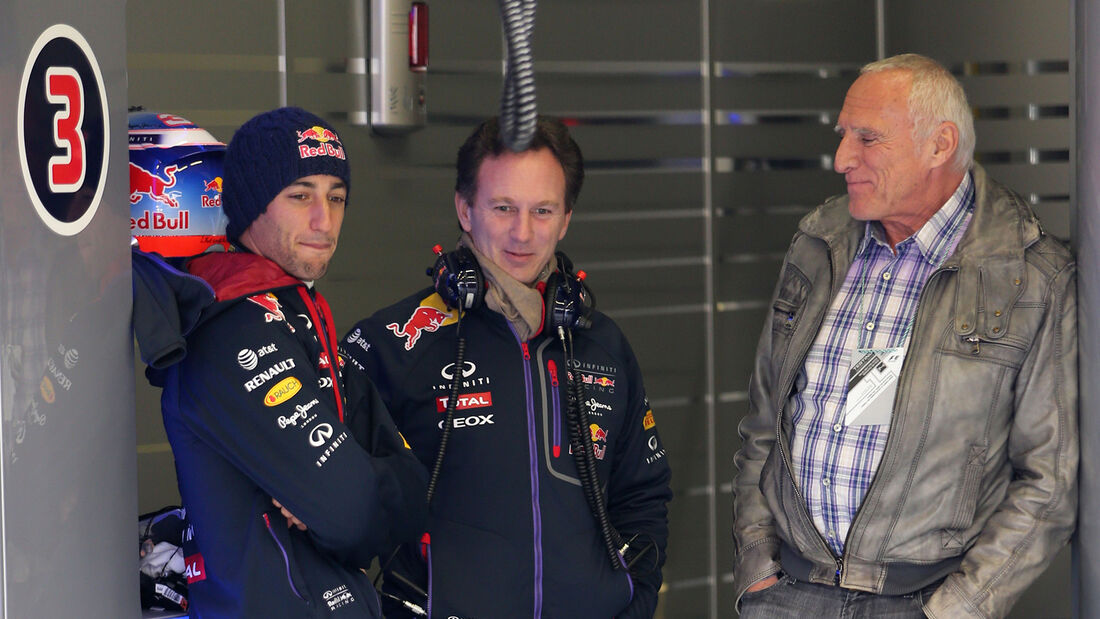 Mateschitz, Ricciardo & Horner - Red Bull 2014