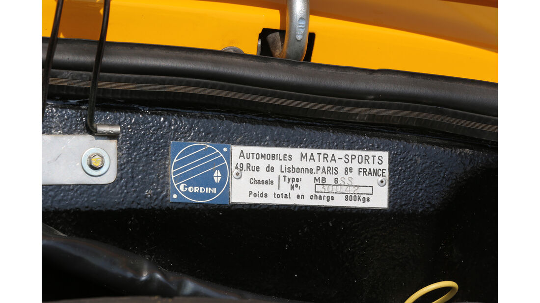 Matra Jet 6, Plakette