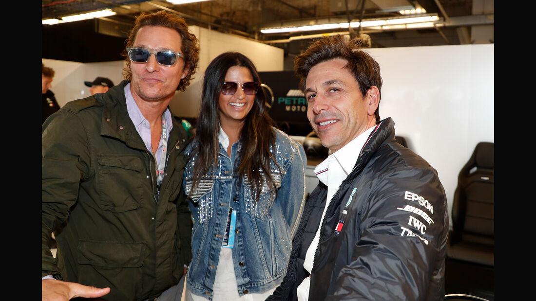 Matthew McConaughey & Toto Wolff - Formel 1 - GP USA - Austin - 20. Oktober 2018