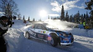 Matthew Wilson, Ford Focus WRC, Rallye Norwegen, 0209, Drift