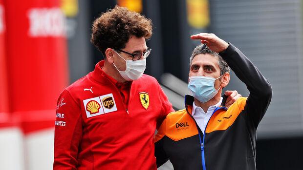 Mattia Binotto - Ferrari - Andrea Stella - McLaren - Formel 1 - GP Österreich - Spielberg - Freitag - 2.7.2021