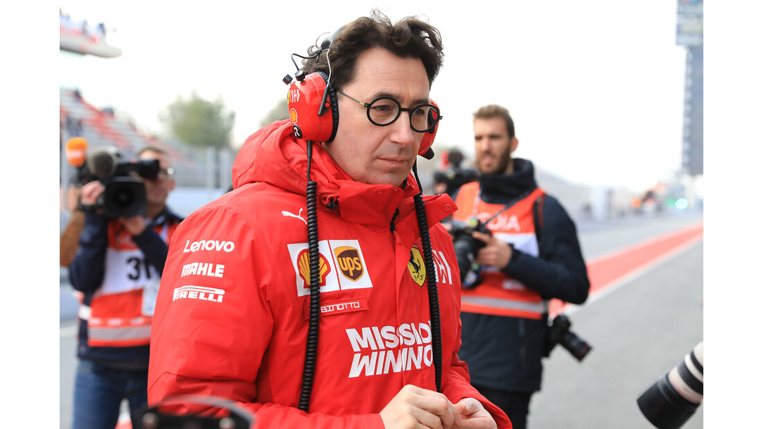 Mattia Binotto - Ferrari - Barcelona - F1-Test - 18. Februar 2019