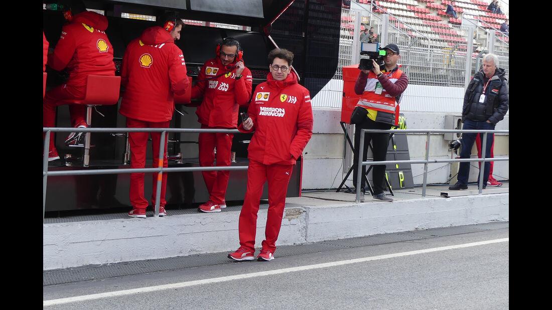 Mattia Binotto - Ferrari - Barcelona - F1-Test - 19. Februar 2019