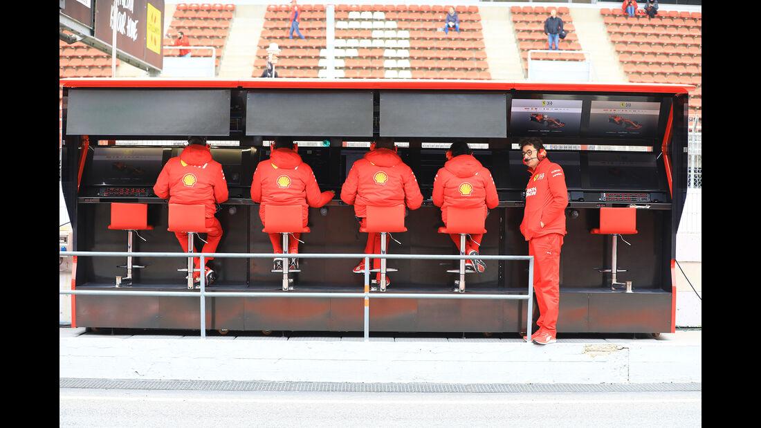 Mattia Binotto - Ferrari - Barcelona - F1-Test - 20. Februar 2019