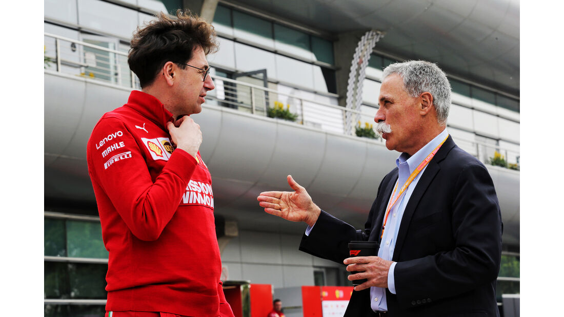 Mattia Binotto - Ferrari - Chase Carey - Liberty Media - GP China - Shanghai - Formel 1 - Freitag - 12.4.2019