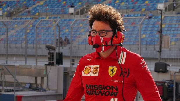 Mattia Binotto - Ferrari - Formel 1 - GP Bahrain - Qualifying - Samstag - 27.3.2021