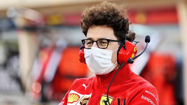 Mattia Binotto - Ferrari - Formel 1 - Test - Bahrain - 13. März 2021