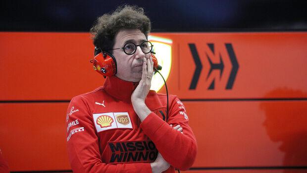 Mattia Binotto - Ferrari - Testfahrten - Barcelona 2020