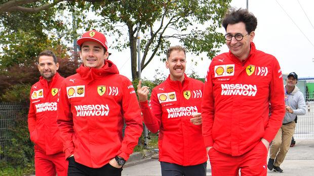 Mattia Binotto, Sebastian Vettel & Charles Leclerc - Ferrari - Formel 1 2019