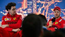 Mattia Binotto - Sebastian Vettel - Ferrari