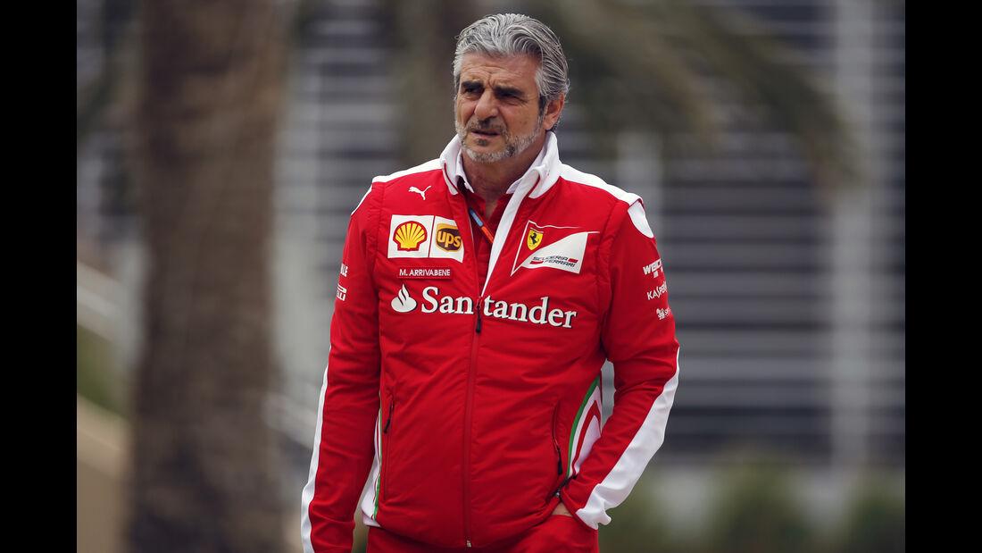 Maurizio Arrivabene - Ferrari - Formel 1 - GP Bahrain - 31. März 2016