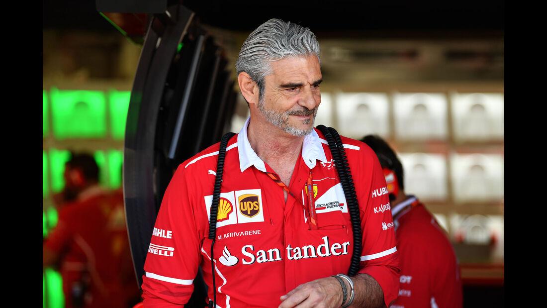 Maurizio Arrivabene - Ferrari - GP Ungarn - Budapest - Formel 1 - 28.7.2017