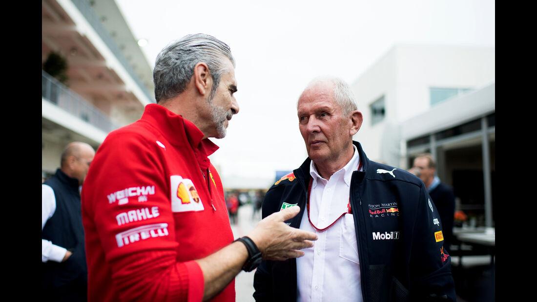 Maurizio Arrivabene & Helmut Marko - Formel 1 - GP USA - Austin - 20. Oktober 2018