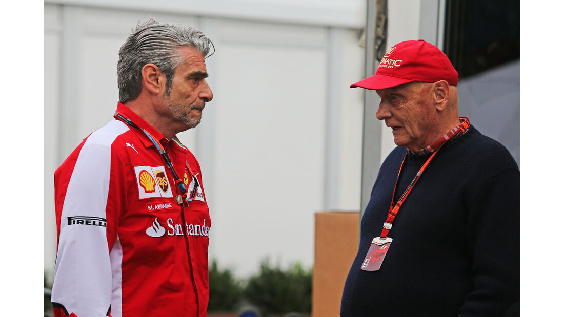 Maurizio Arrivabene & Niki Lauda - Formel 1 - GP Australien - Melbourne - 14. März 2015