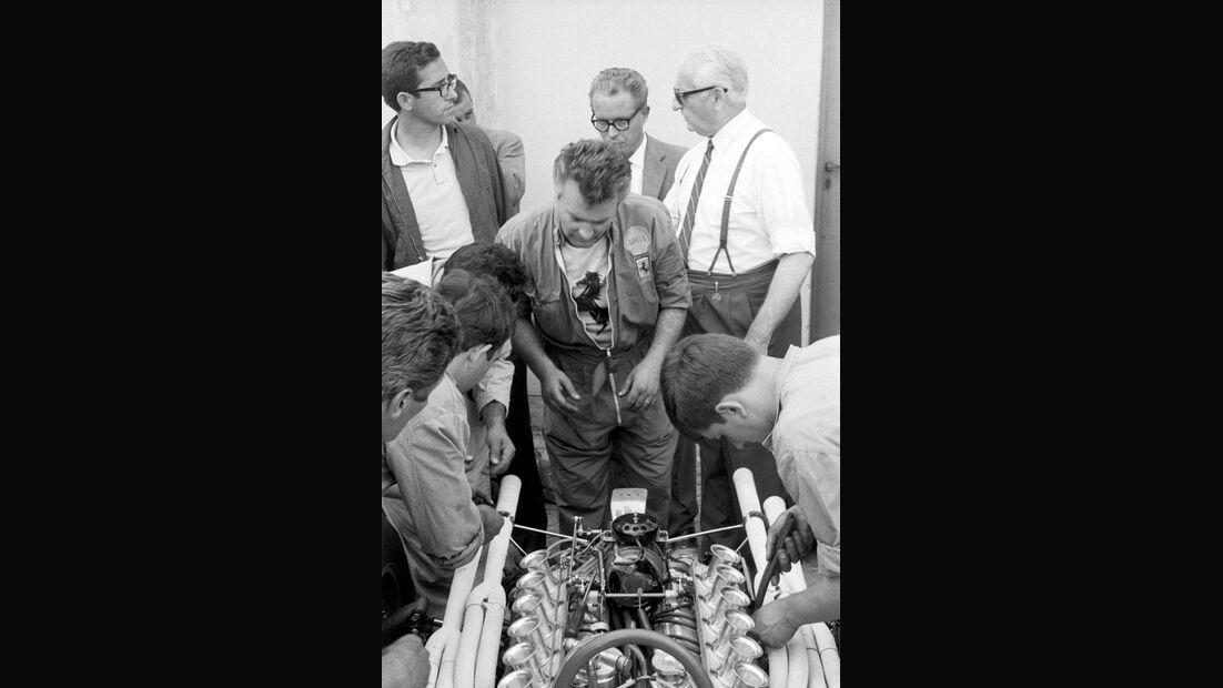 Mauro Forghieri - Enzo Ferrari - Italien 1966