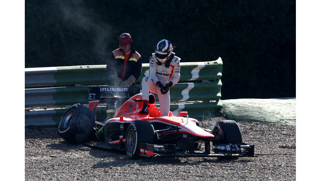 Max Chilton Marussia F1 Test Jerez 2013 Highlights