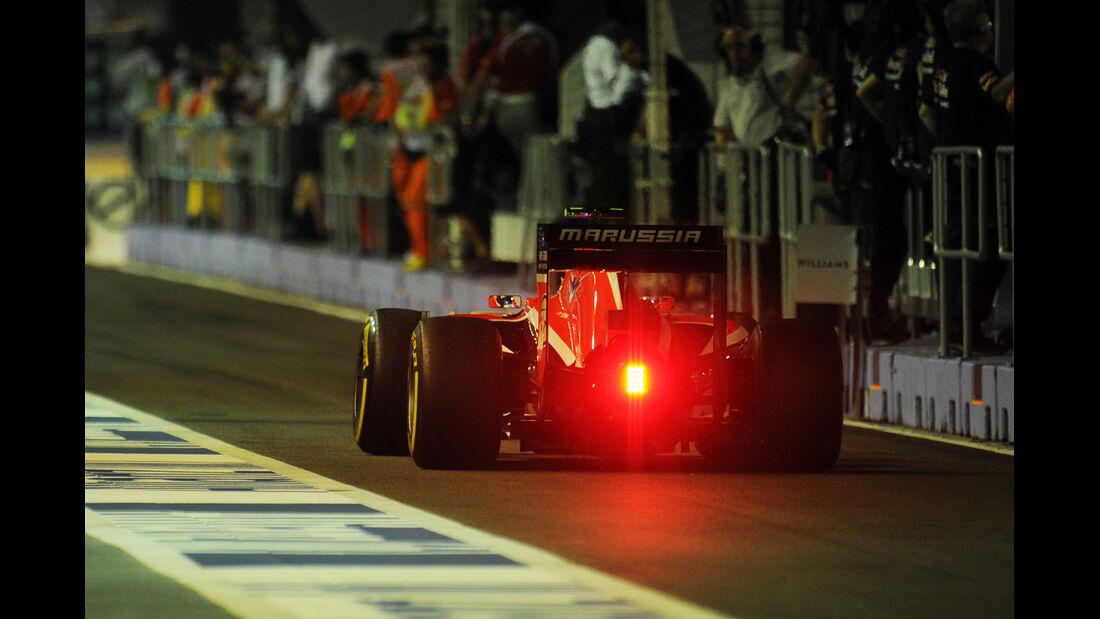 Max Chilton - Marussia - Formel 1 - GP Singapur - 19. September 2014