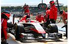Max Chilton - Marussia - Formel 1 - Silverstone-Test - 9. Juli 2014