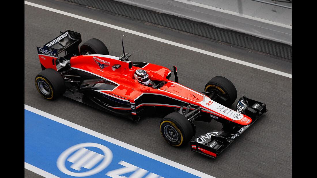 Max Chilton, Marussia, Formel 1-Test, Barcelona, 19.2.2013