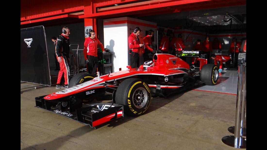 Max Chilton - Marussia - Formel 1 - Test - Barcelona - 19. Februar 2013