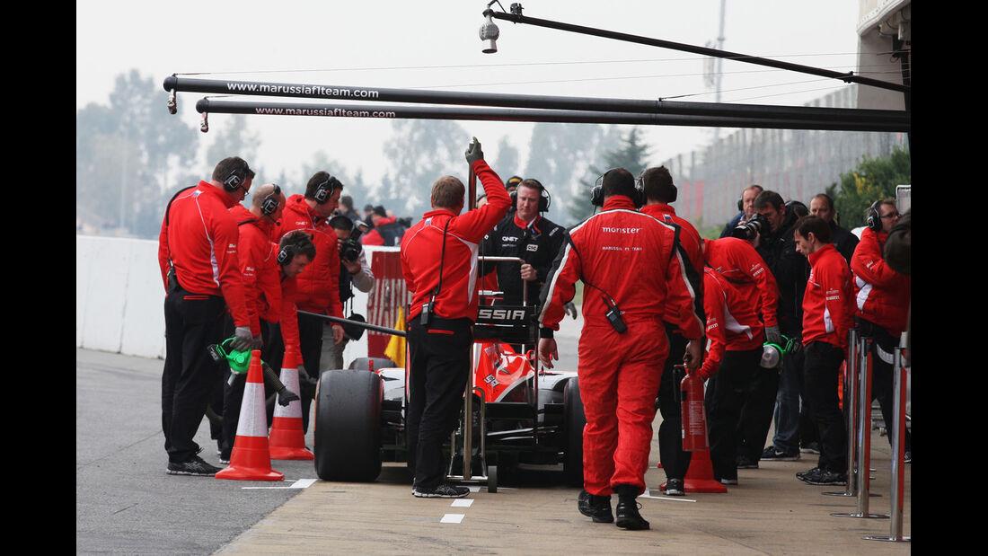 Max Chilton, Marussia, Formel 1-Test, Barcelona, 21. Februar 2013