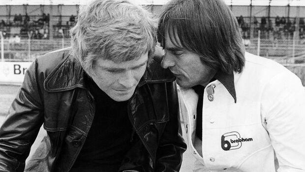 Max Mosley (March) & Bernie Ecclestone (Brabham) - GP England 1973