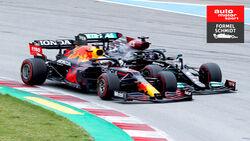 Max Verstapen - Lewis Hamilton - Formel 1 - GP Spanien 2021 - Barcelona - Rennen