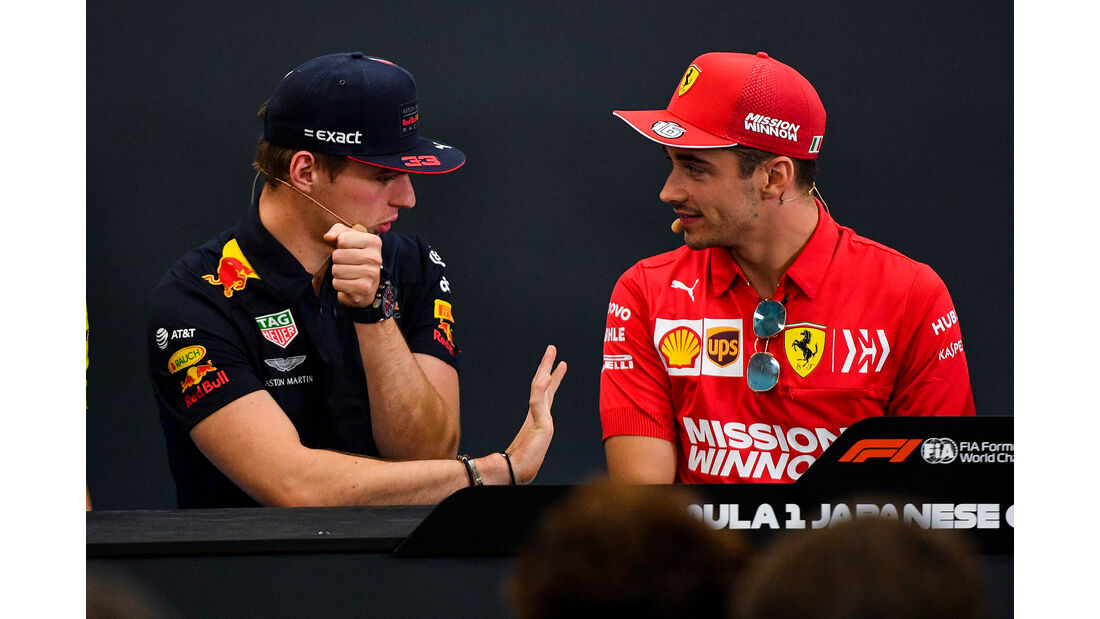 Max Verstappen & Charles Leclerc - GP Japan 2019