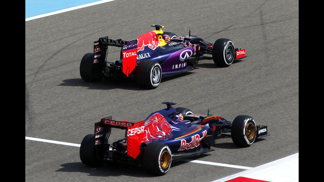 Max Verstappen & Daniil Kvyat - Formel 1 - GP Bahrain 2015
