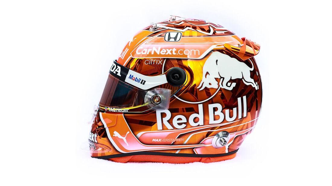Max Verstappen - Helm - Formel 1 - GP Belgien - Spa-Francorchamps - 27. August 2021